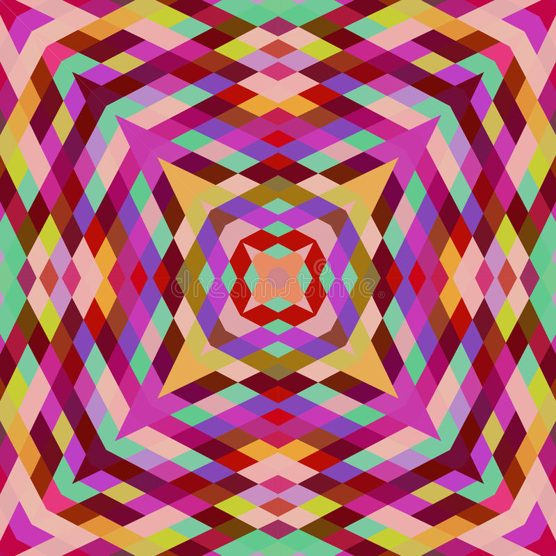 Contexto retro del vector de formas geométricas Banne colorido del mosaico libre illustration