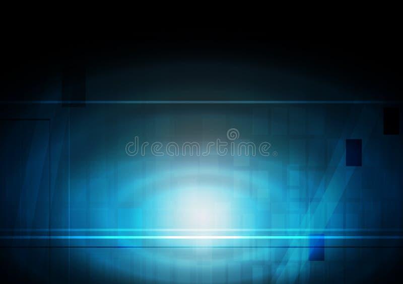 Contexto técnico vibrante ilustração do vetor