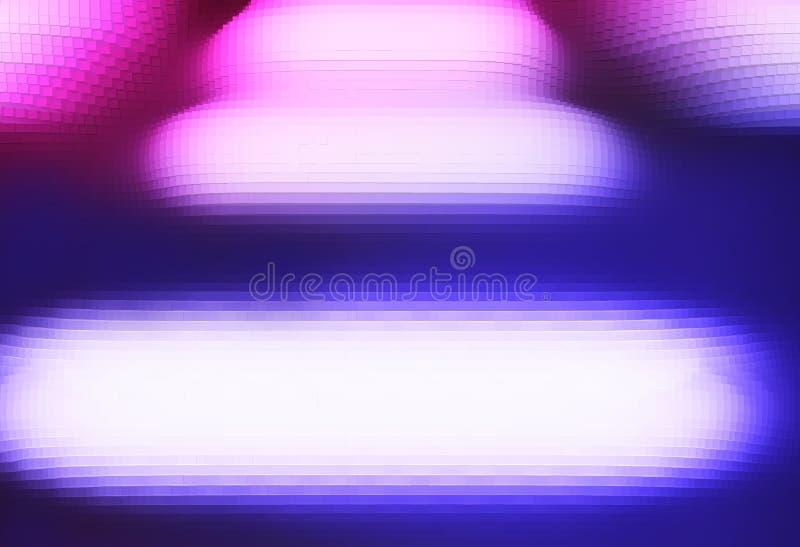 Contexto vacío sacado abstracto del paisaje del mundo del bloque ilustración del vector