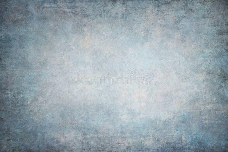 Contextos pintados à mão azuis do Vignetting imagens de stock