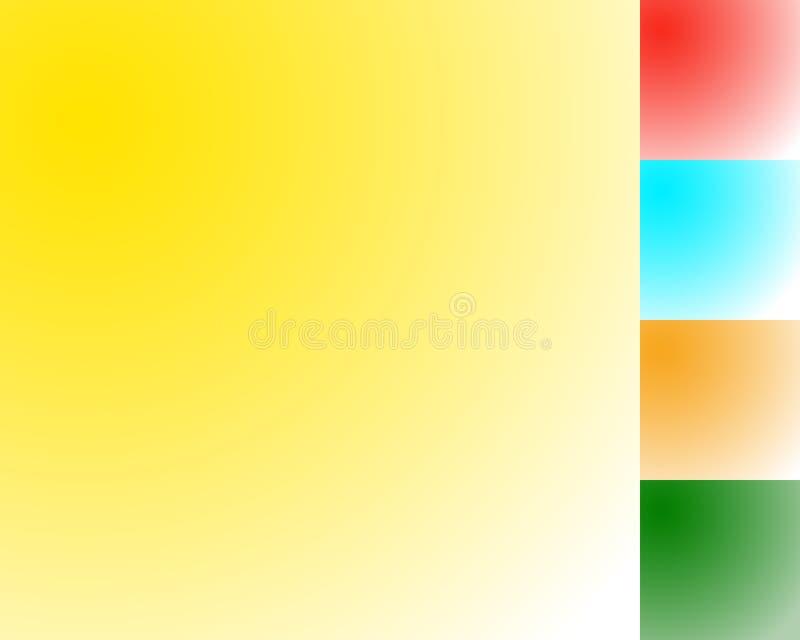 Contextos radiales coloridos vacíos de la pendiente Fondo fijado con el co libre illustration