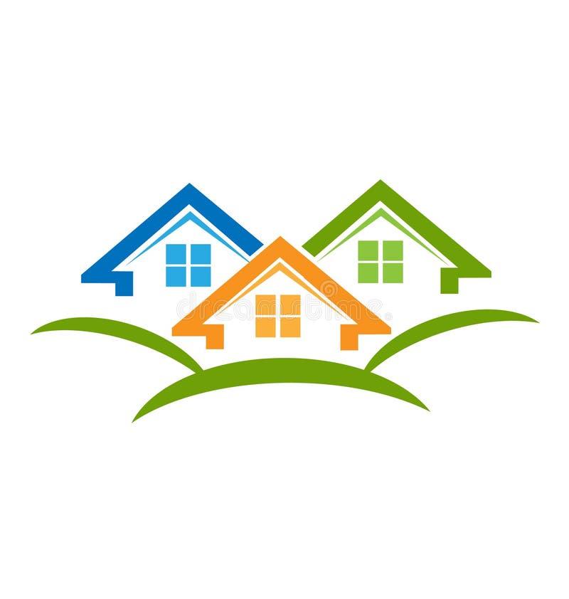 Contiene el logotipo del vector de las propiedades inmobiliarias libre illustration