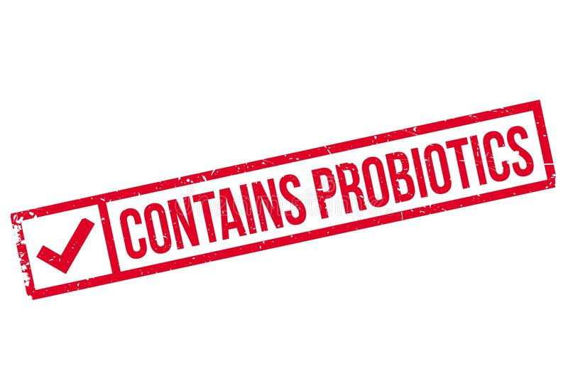 Contiene el sello del probiotics libre illustration
