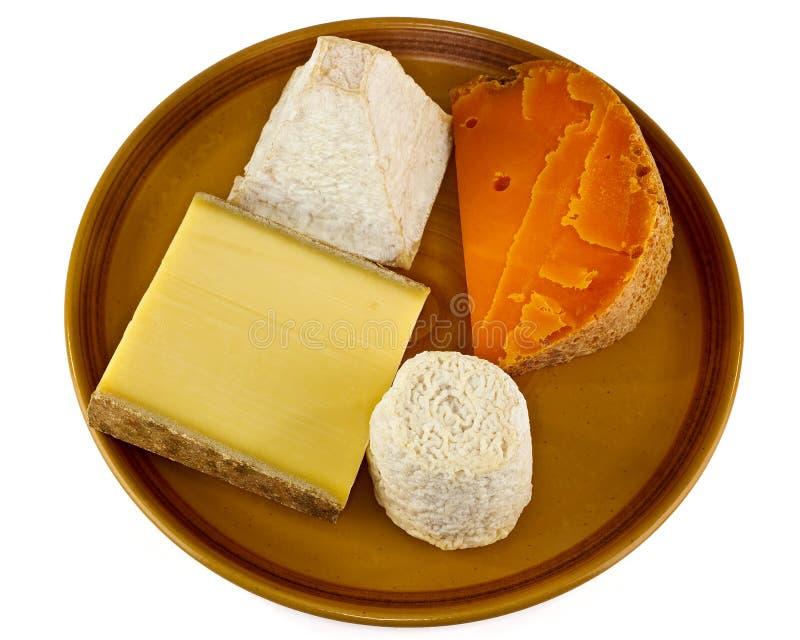 Continenal干酪选择 库存照片