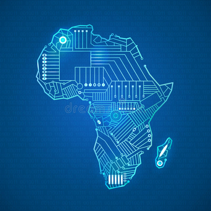 The continent of Africa royalty free stock photography