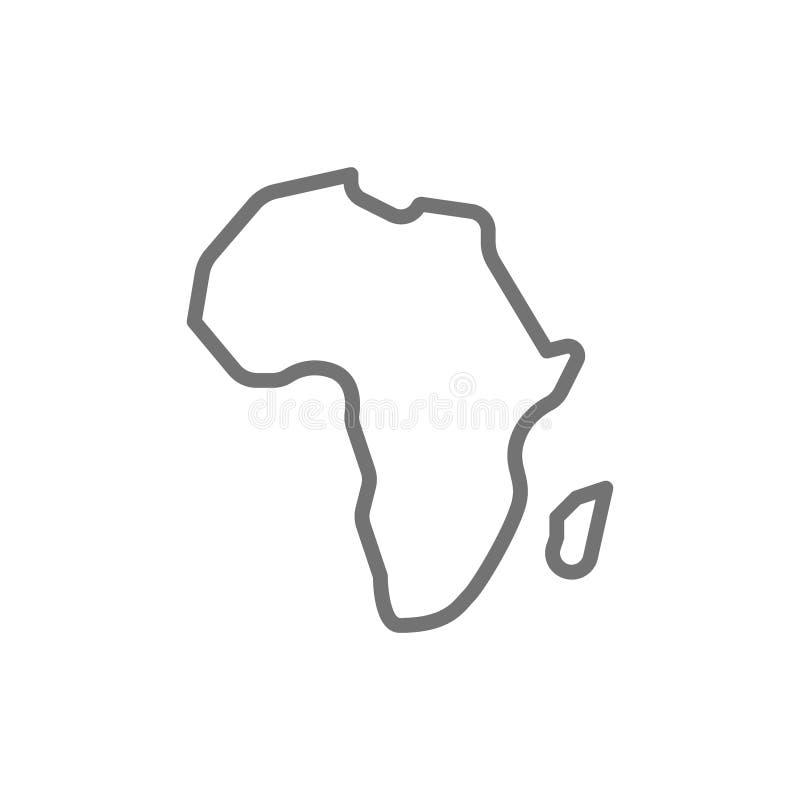 Continent africain, ligne icône de l'Afrique illustration stock