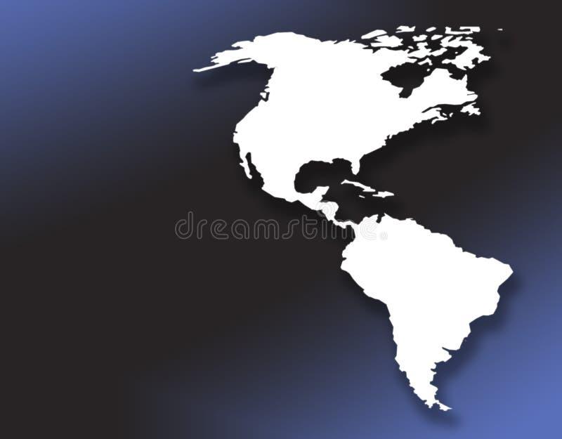Continent américain illustration libre de droits