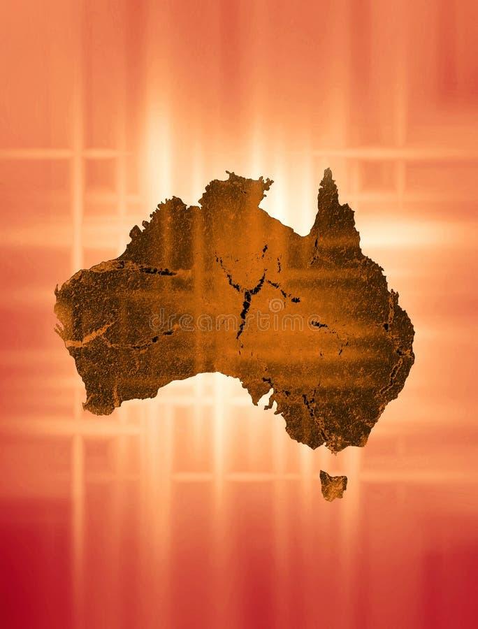 Continent australien illustration de vecteur