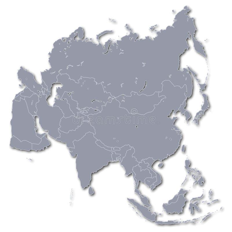 Continent Azië royalty-vrije illustratie