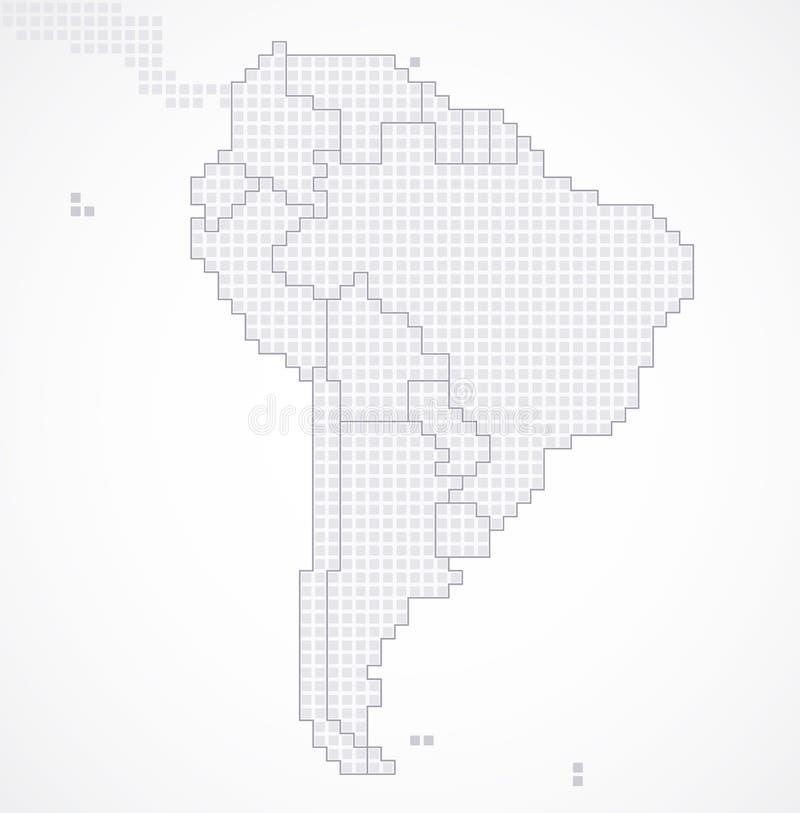 Continent de l'Amérique du Sud avec les états séparés illustration de vecteur