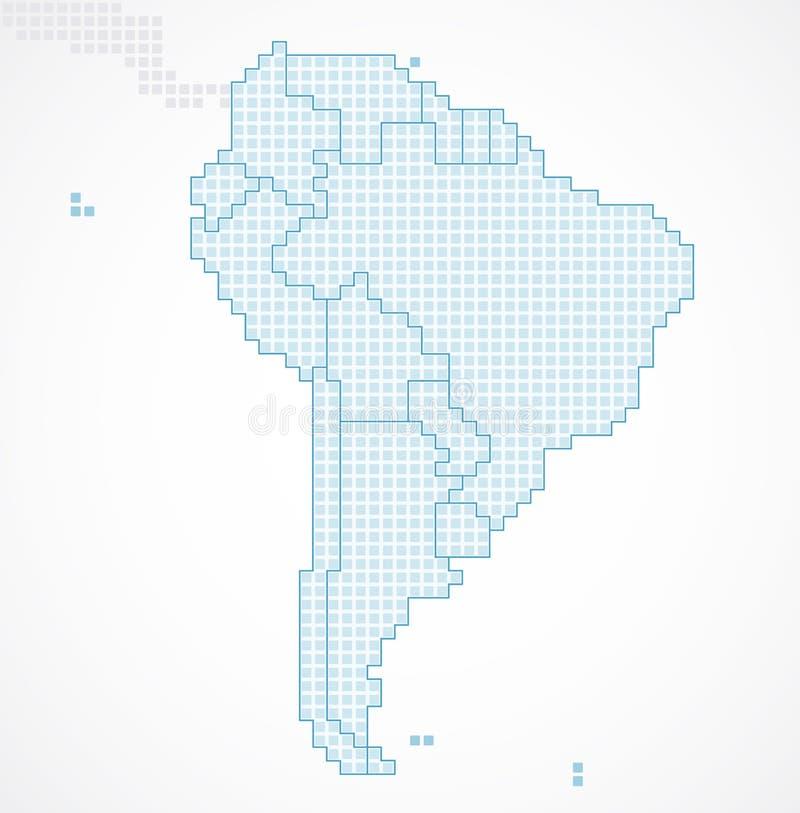 Continent de l'Amérique du Sud avec les états séparés illustration libre de droits