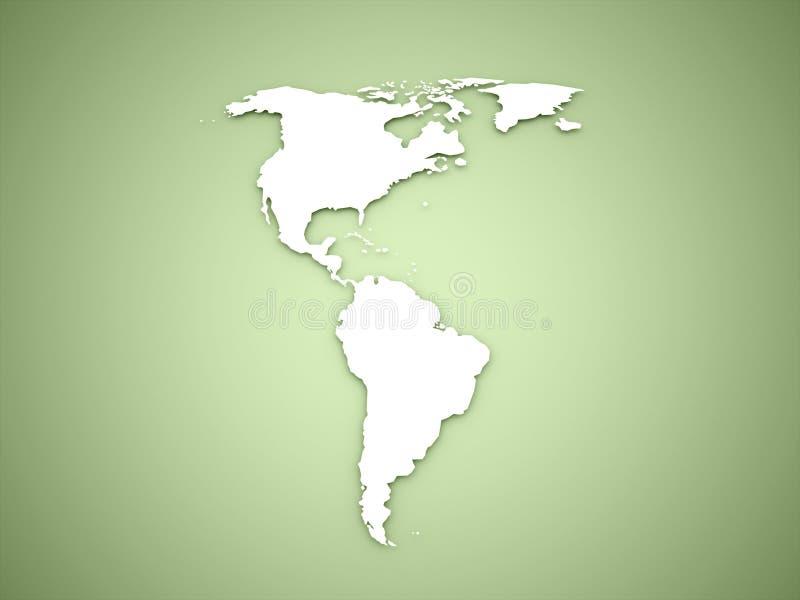 Continent de l'Amérique sur le vert illustration libre de droits