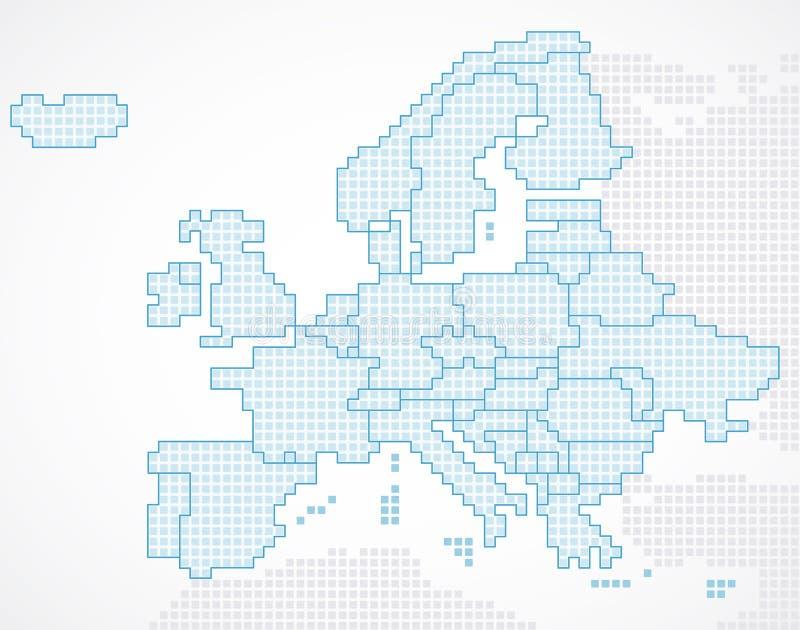 Continent de l'Europe avec les états séparés illustration stock