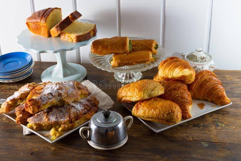 Continentaal ontbijt stock afbeelding