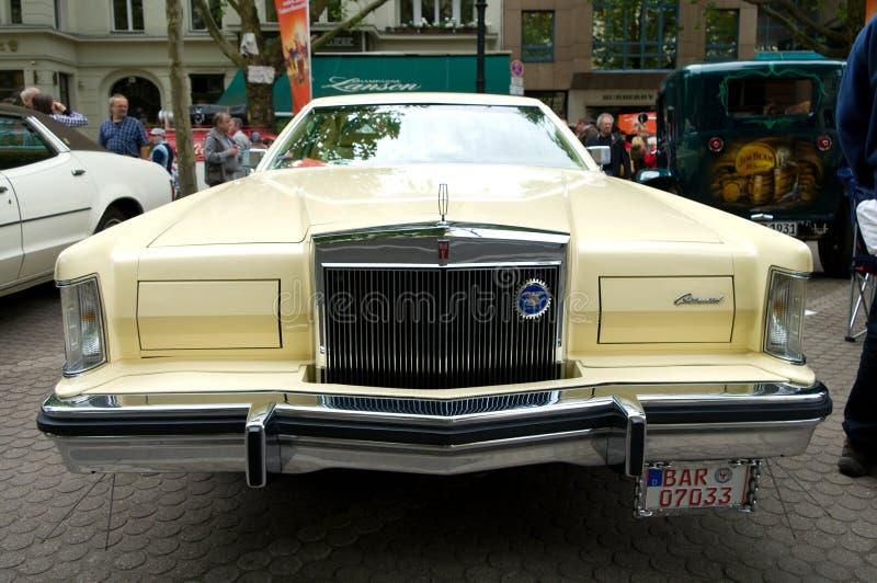 Continentaal Teken V van Lincoln van auto's stock afbeelding