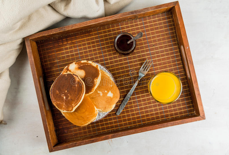 Download Continental Breakfast With Pancakes Stock Photo - Image: 83716141