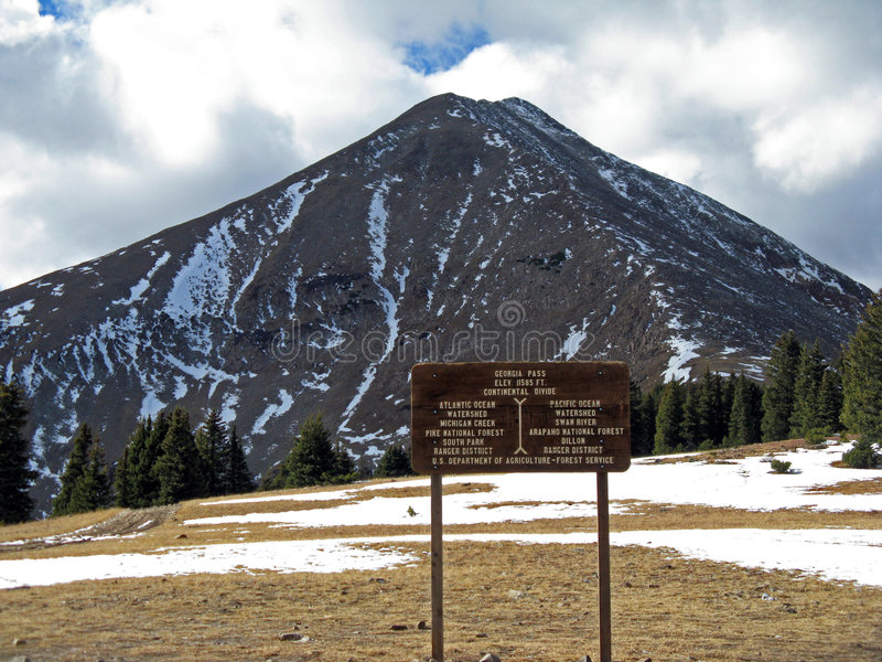 Download Continental Divide Sign (USA) Stock Image - Image: 7107645