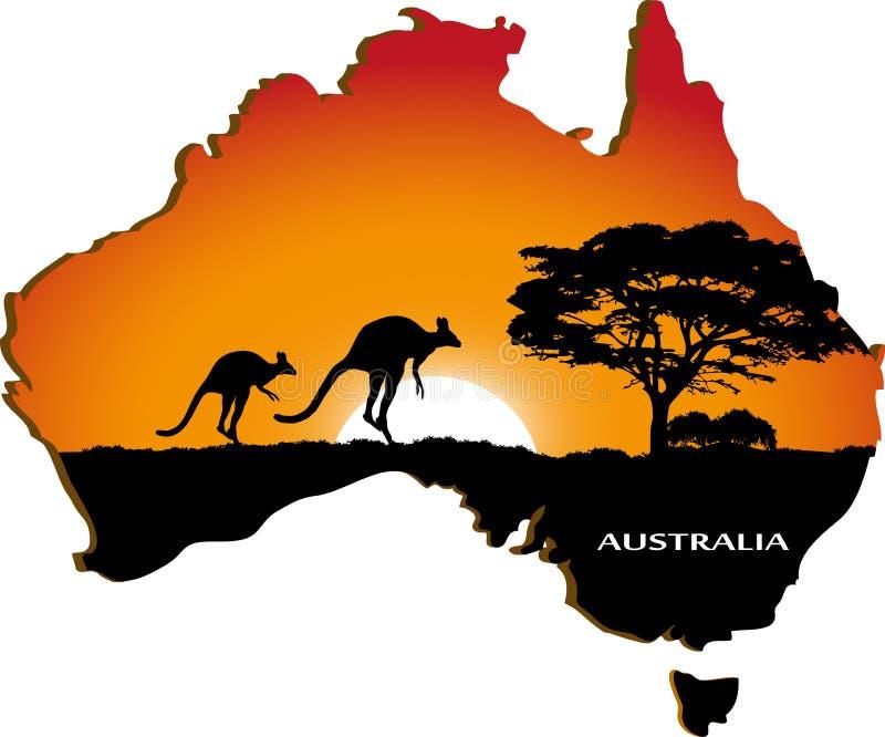 Continente australiano ilustração do vetor