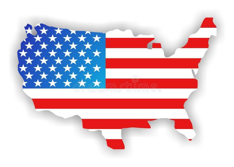 Continente de América fotografia de stock royalty free