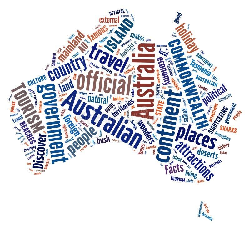 Continente de Austrália ilustração royalty free