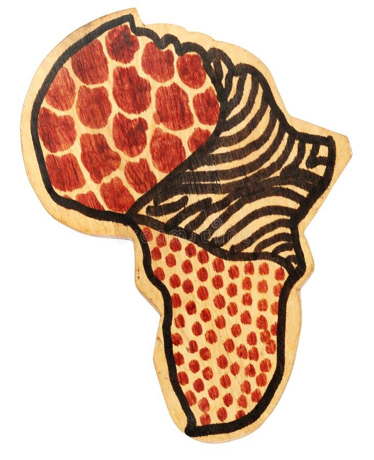 Continente di legno dell'Africa immagini stock libere da diritti