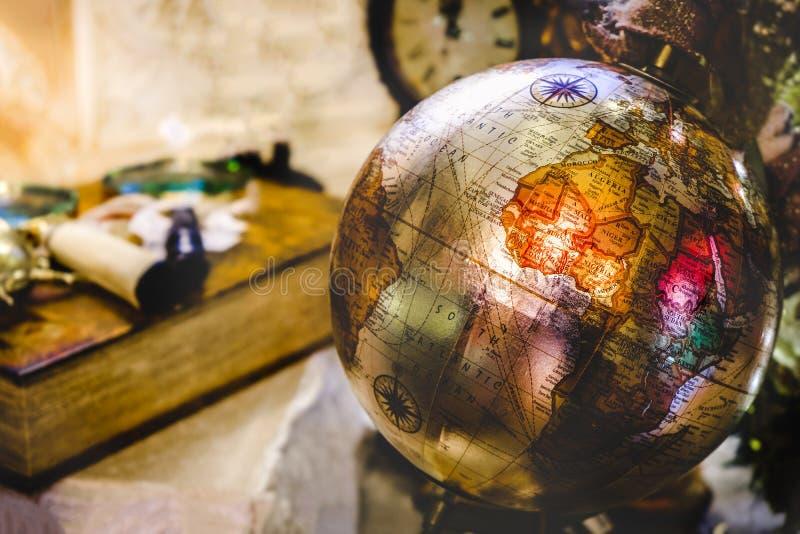 Continente viejo antiguo de África del fondo del globo del vintage de la geografía retra del viaje fotografía de archivo libre de regalías