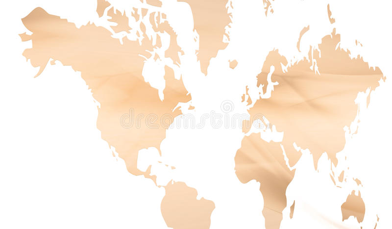 Continenten stock illustratie