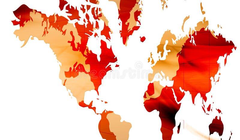Continenten vector illustratie