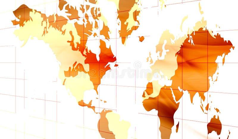 Continenten royalty-vrije illustratie