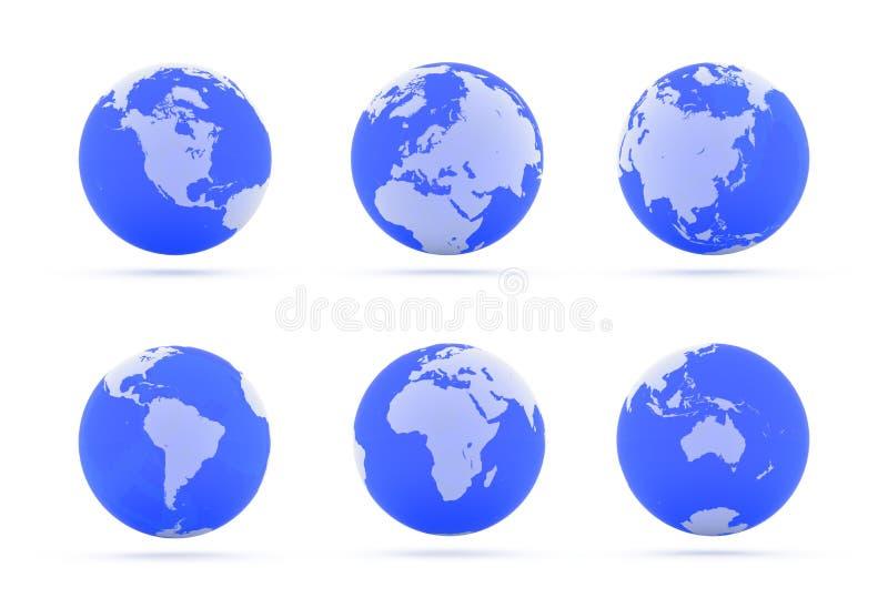 Continentes. ilustración del vector