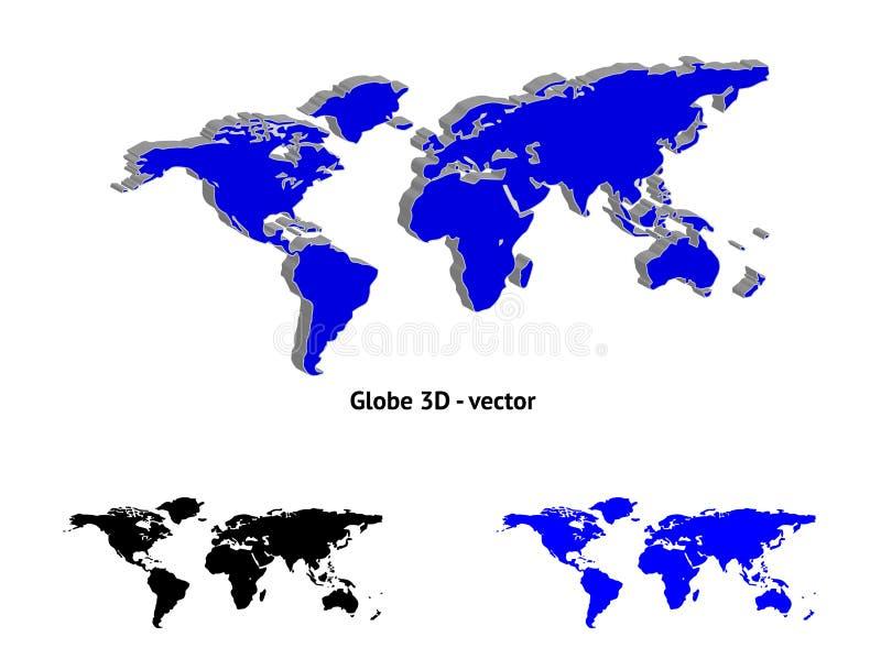 Continentes stock de ilustración