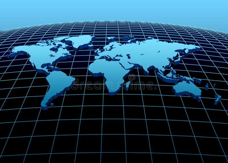Continentes 3d ilustración del vector