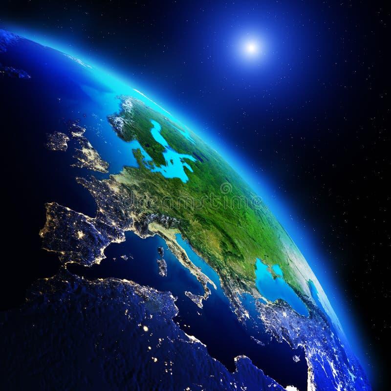 Continentes de la tierra stock de ilustración
