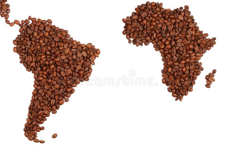 Continentes do café imagem de stock royalty free