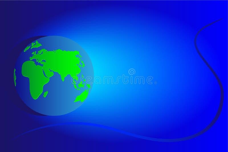 Continentes Europa e África ilustração stock