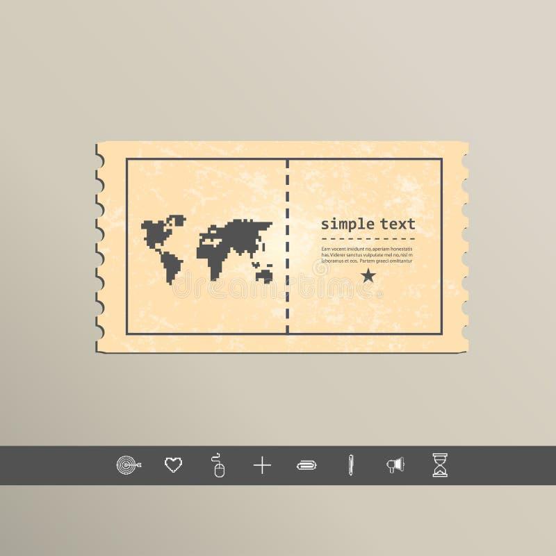 Continentes simples del icono del pixel del estilo Diseño del vector ilustración del vector