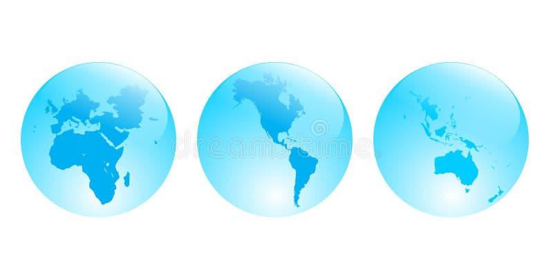 Continents illustration de vecteur
