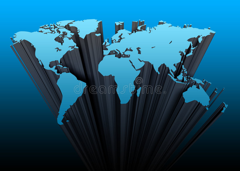Download Continents 3d stock illustration. Illustration of planet - 708597