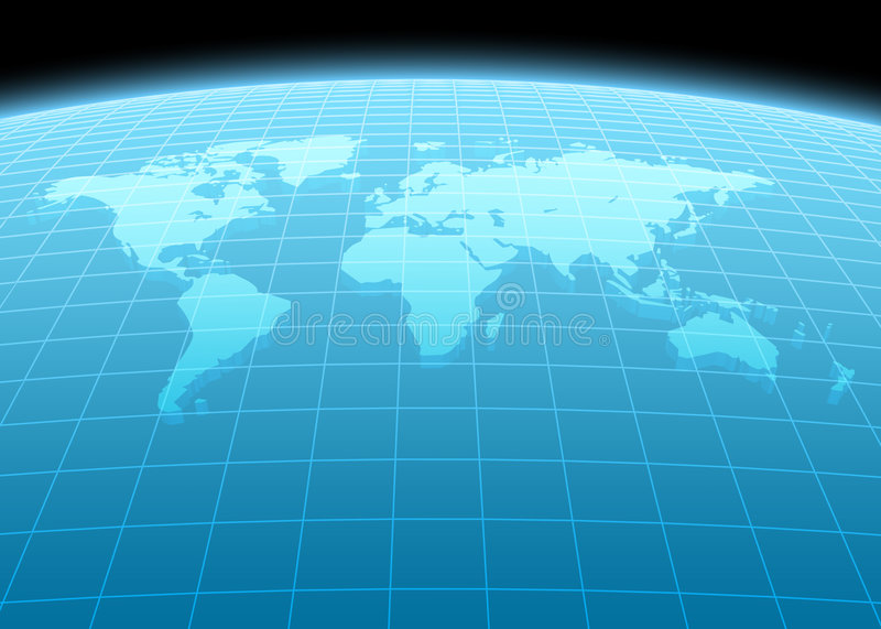 Continents 3d illustration stock