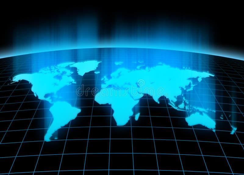 Continents 3d illustration de vecteur