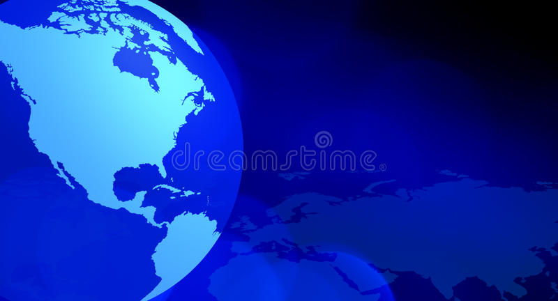 Continents blue abstract background royalty free stock image