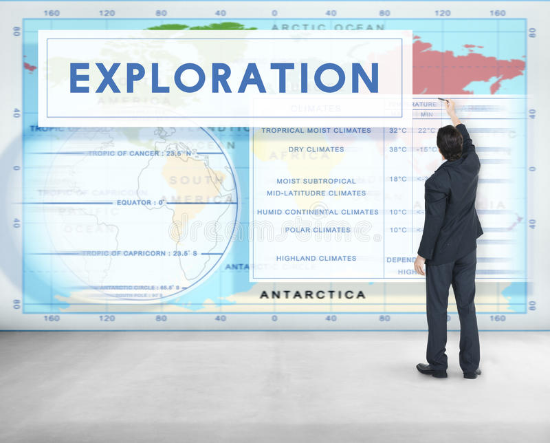 Continents Coordinates Exploration Geological Cartography Concept royalty free stock image