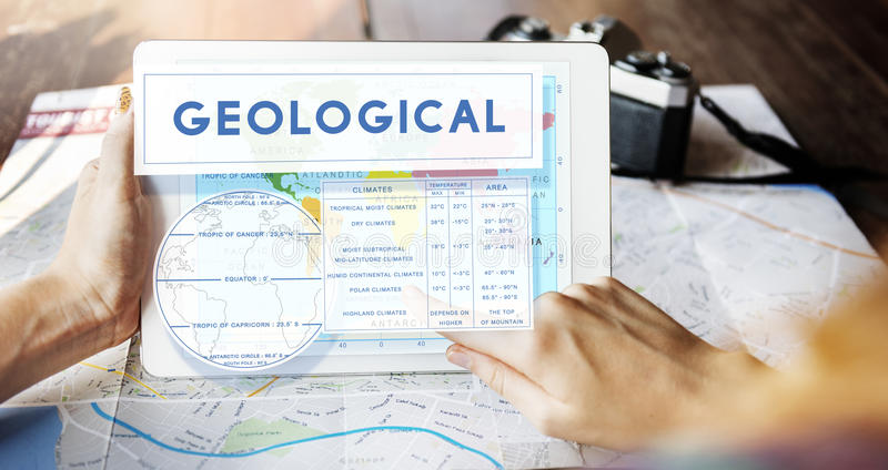 Continents Coordinates Exploration Geological Cartography Concep. T royalty free stock photography