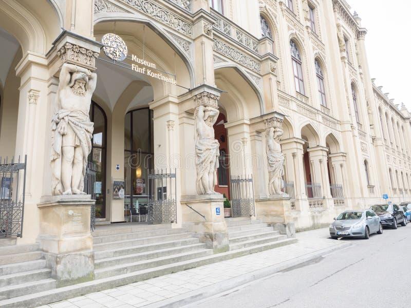 Continents Munich du musée cinq photographie stock libre de droits