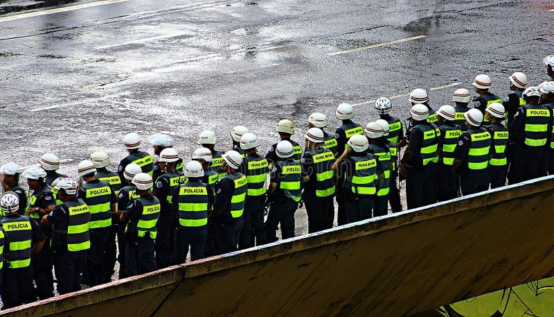 Contingente da polícia militar imagem de stock royalty free
