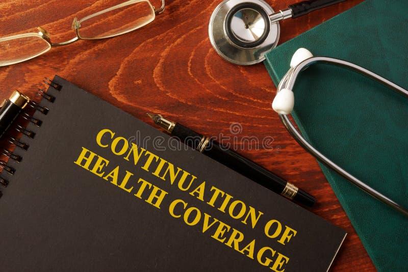 Continuação da cobertura de saúde imagem de stock
