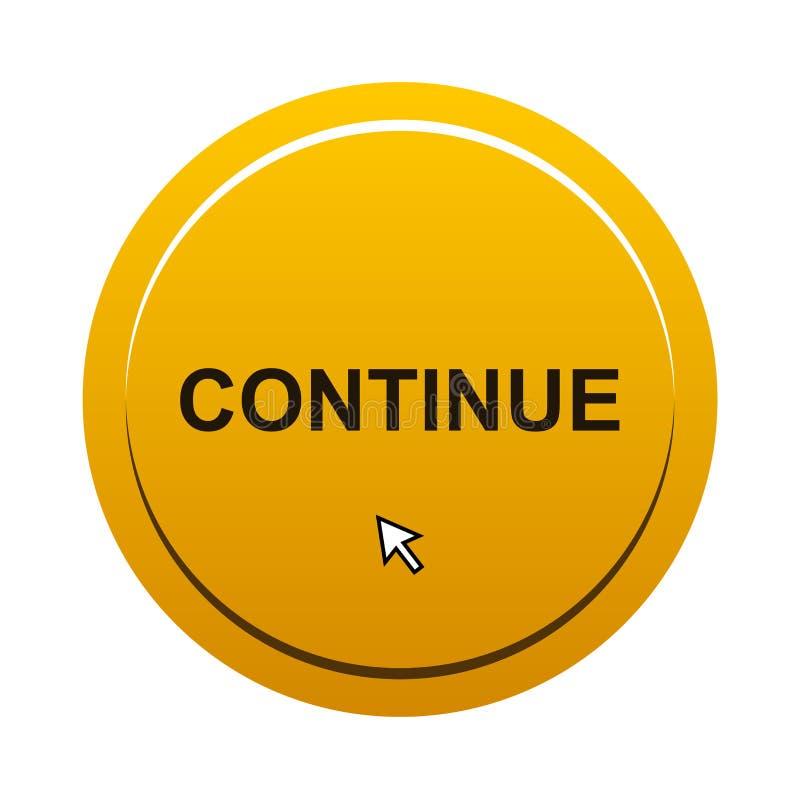 Continue kn?ppas stock illustrationer