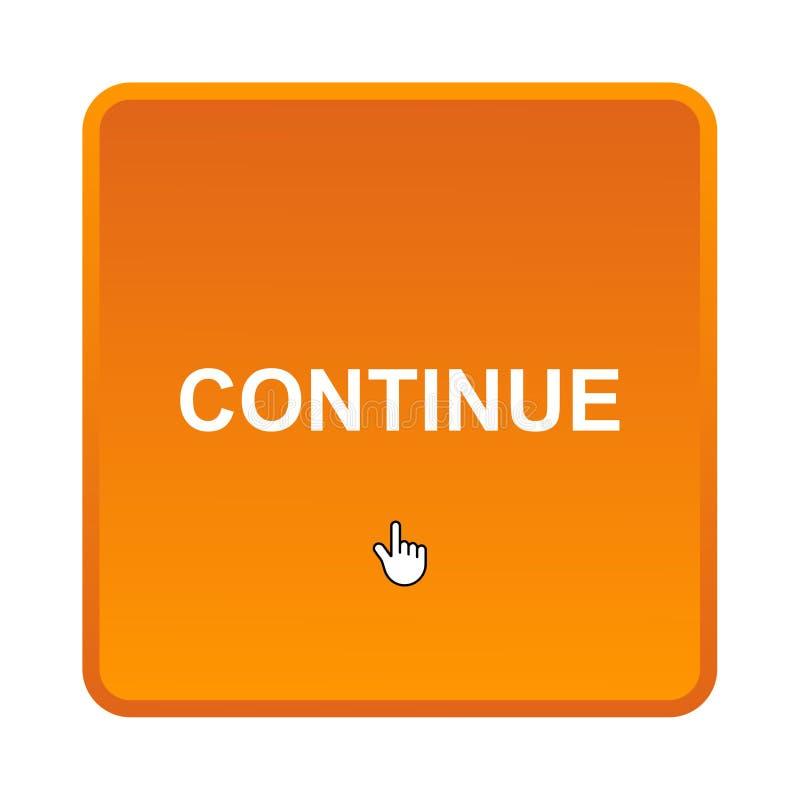 Continuez le bouton illustration de vecteur