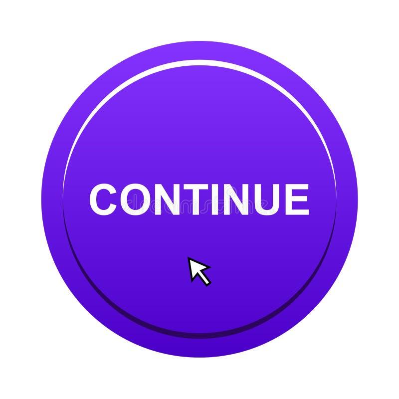 Continuez le bouton illustration libre de droits