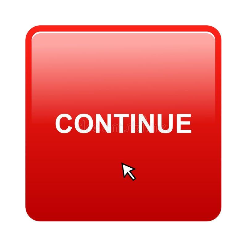 Continuez le bouton illustration stock